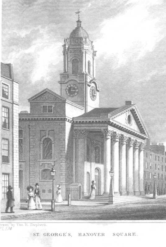 St George's - Hanover Square (drawn by: Tho. H. Shepherd)